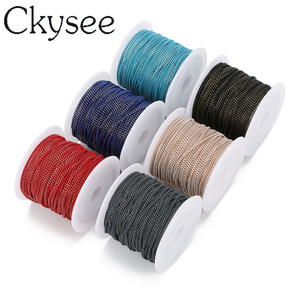 Ckysee 10yards/lot Blue Pink Color Flat Ginding Skin Chain Necklace 1.5mm Width Copper Bulk Chain Diy Jewelry Making Materials