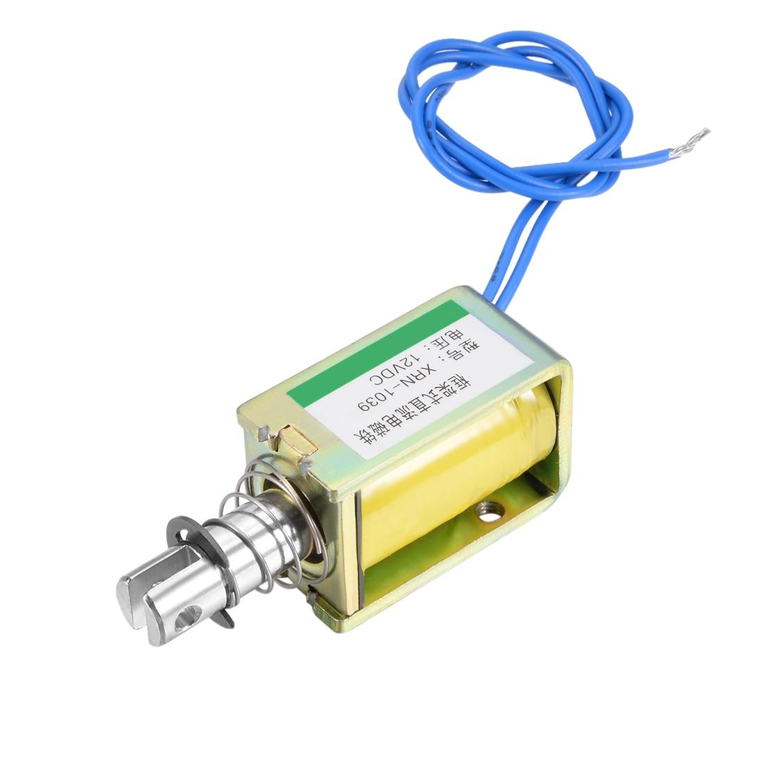 Uxcell XRN-1039 DC 12V 25N 10mm Pull Type Open Frame Solenoid Electromagnet