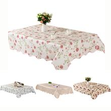 Rectangle Tablecloth Waterproof Spillproof Stain Resistant Wipeable oilproof Table Cloth Decoration PVC For Home Kitchen Dining simanfei linen table cloth country style plaid print stylish rectangle table cover tablecloth home kitchen decoration