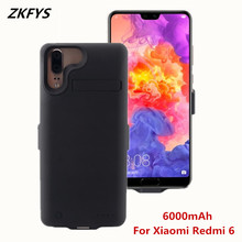 ZKFYS Battery Powe Case For Xiaomi Redmi 6 Backup Pack Charger 6000mAh External Stand Power Bank Cover