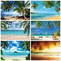 Summer Tropical Sea Seaside Ocean Backdrop Beach Party Wave Natural Scene Vinyl Photography Background Photo Studio Photophone