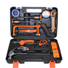 13piece Set Auto Repair Mixed Tool Combination Package Hand Tool Kit with Plastic Toolbox Storage Case   woodworking tools 12pcs hardware toolbox tool set portable home combination repair toolbox with plastic box
