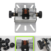 Beads Machine Silver Durable Craft Rotary Tool Multifunctional Woodworking Aluminum Alloy Punch Bracket Lathe Drill Hole Mini