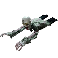 Halloween Crawling Zombie Prop Animated Horror Haunted House Party Floor Decor