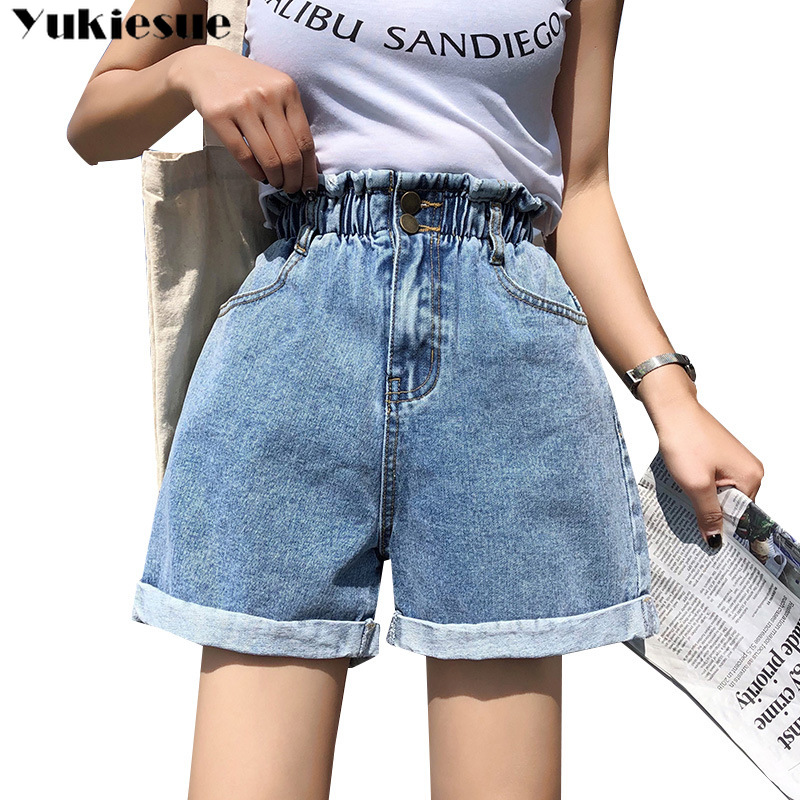 Women's Shorts Woman 2020 Summer High Waist Elatic Denim Shorts For Women Short Femme Jeans Womens Clothing Ladies Plus Size