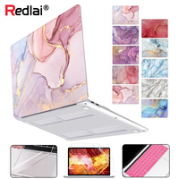 Redlai for MacBook Air 13 inch Case A1932 A2179 2020 Pro 16 13 inch Touch bar A2141 A2159 A2289 Geometry Marble Hard Shell Case