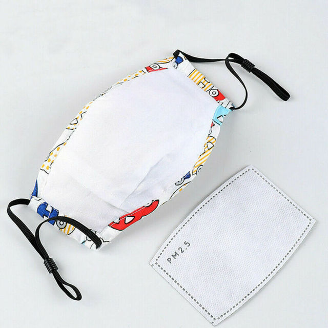 Kids Children Cartoon Face Mask Anti-Fog Air Pollution Mouth Nose Protection 4