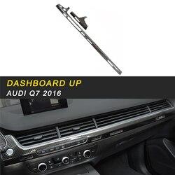 Konsoli środkowej Panel deski rozdzielczej górna pokrywa wykończenia ramki naklejki wyposażenie wnętrz dla Audi Q7 4M 2016 2018 samochodów stylizacji w Naklejki samochodowe od Samochody i motocykle na