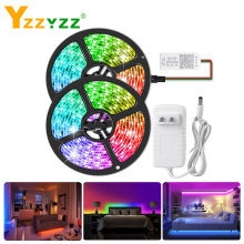 12V WS2811 RGB Led Strip Light 1-5m Smart APP Bluetooth Controller 5050 SMD Addressable RGB LED Strip for Living Room Decoration