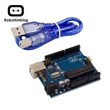 10 takım UNO R3 Arduino için MEGA328P ATMEGA16U2 ile USB kablosu