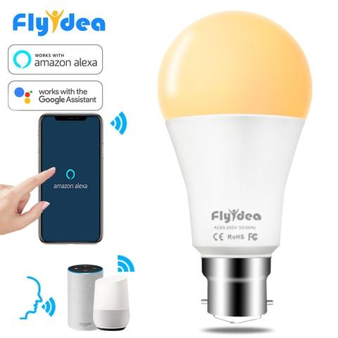 15w b22 levou lampada wi fi app controle remoto smart home light bulb ac 85