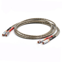 Hight Quality Nordost ODIN 7N silver plated OFC copper audio video signal wire ,audio RCA interconnect cable,Extension cord Pair