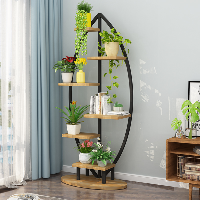 Green Luo Flower Airs Multi storey Interior Decoration Frame A Living Room Landing Type Iron Meat Flower Rack Shelf Balcony|Plant Shelves| |  - title=