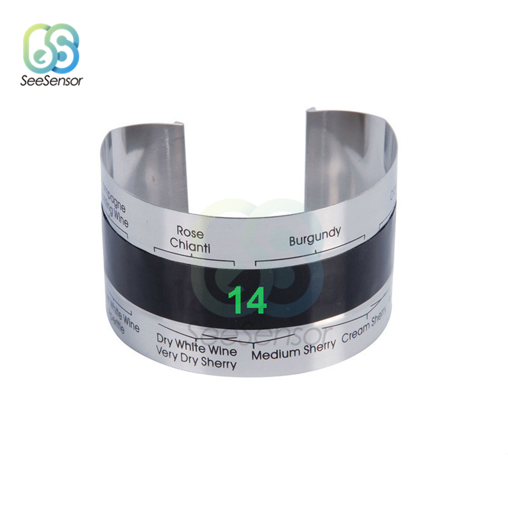 LCD Display Edelstahl Flasche Wein <font><b>Thermometer</b></font> Portion Party Checker Armband <font><b>Thermometer</b></font> <font><b>Shop</b></font> Bar Küche Werkzeuge image