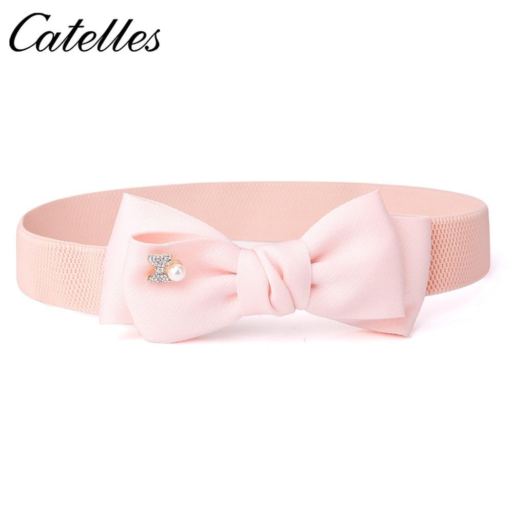 PU Leather Elastic Wide Belt Stretch Thick Waist Belt For Dress Fashion Women Belts