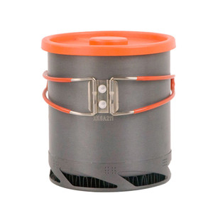Image 3 - 屋外ポータブル熱収集交換器ポットアルマイトキャンプピクニックポット調理器具カップ調理ハイキング 1L
