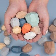 Новые Деревянные игрушки Монтессори в скандинавском стиле набор
