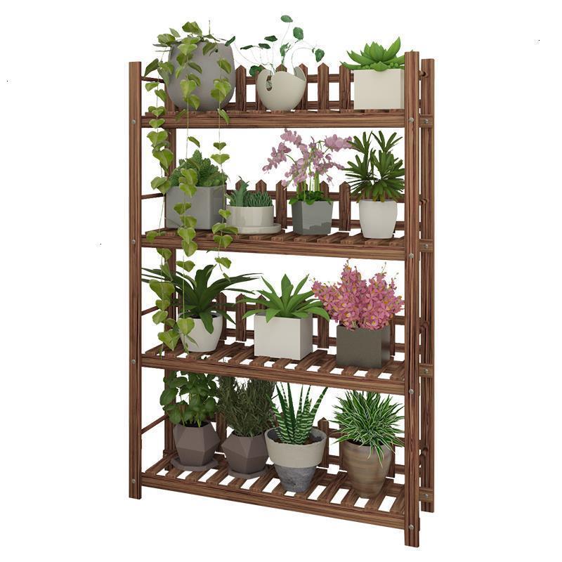 Etagere Plante Repisa Estanteria Wooden Shelves For Estante Para Plantas Dekoration Balcony Outdoor Stand Flower Plant Shelf|Plant Shelves| |  - title=