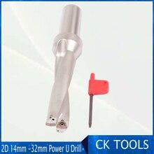 Услуга курьерской ZD02 14 мм-32 мм WC Тип дрели для 2D U Бурение мелкой отверстие Индексируемые вставные сверла