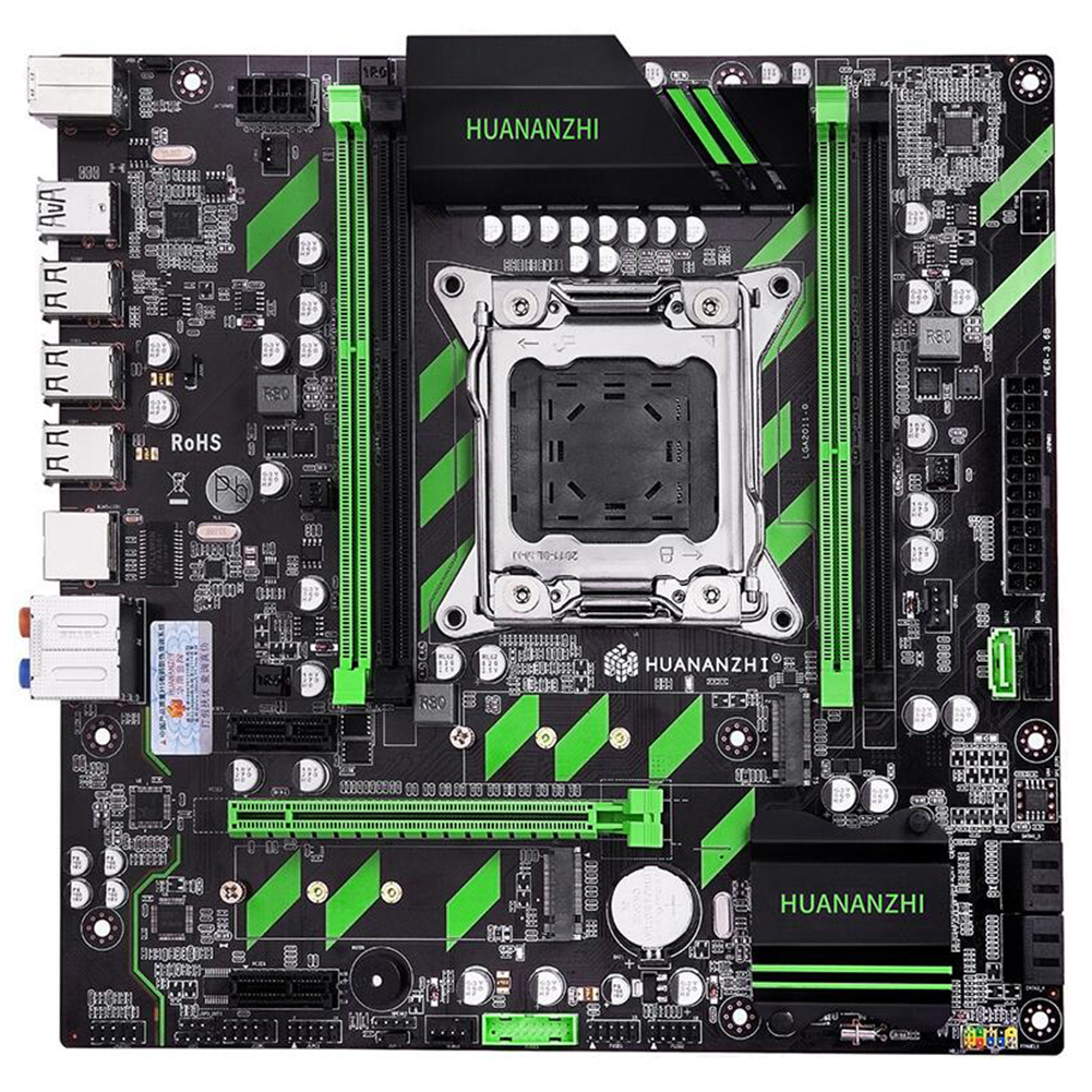 <font><b>HUANANZHI</b></font> <font><b>X79</b></font> <font><b>ZD3</b></font> Reg USB 3.0 NVME SSD Motherboard E5 CPU Computer Office Data Storage SATA3 Replacement Part Home ATX For Intel image