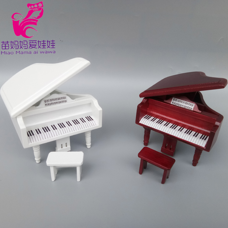 Mini Piano Model For Doll House Diy Decoration Funiture For Barbie Blythe Doll BJD Ob 11 Doll Accessories