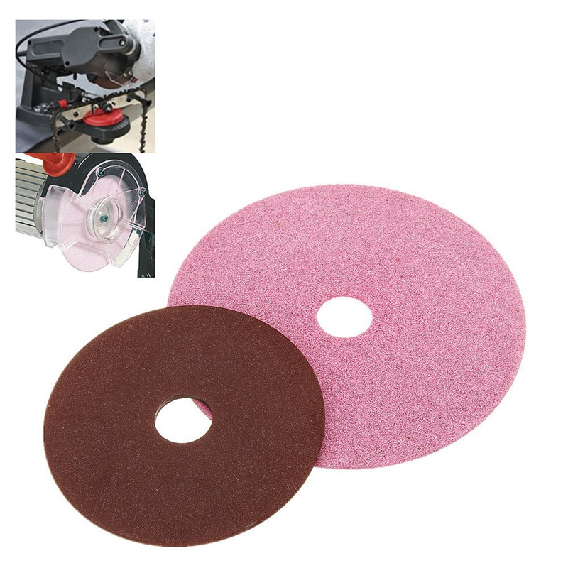 Ceramic/Resin Electric Chainsaw Grinding Disc Replacement Polishing Wheel For Chainsaw Sharpener Grinder 3/8 & 404 Chain Teeth