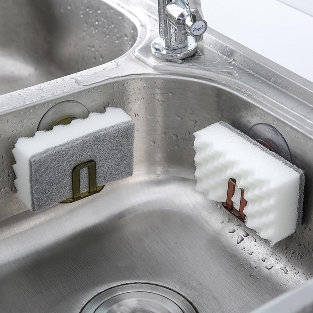 Kitchen Suction Cup Sink Drain Rack Sponge Storage Holder Kitchen Sink Soap Rack Drainer Rack Bathroom Accessories Organizer