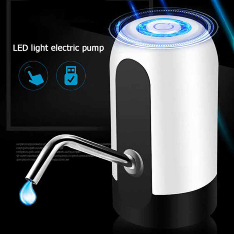 Electric Bottled Pump LED Touch Electric Stainless Steel Bottled Water Pump USB Rechargeable Dispenser Drinkware Switch Tools