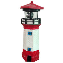Led Garden Lamp Patio Solar Power Home Fence Lawn Ornament Rotating Beam IP67 Lighthouse Light Outdoor Decoration Fairy(China)