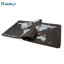 World Map Speed Locking Edge Waterproof Large Natural Rubber Gaming Mouse Pad Desk Mat For Overwatch Evangelion CS go Warcraft