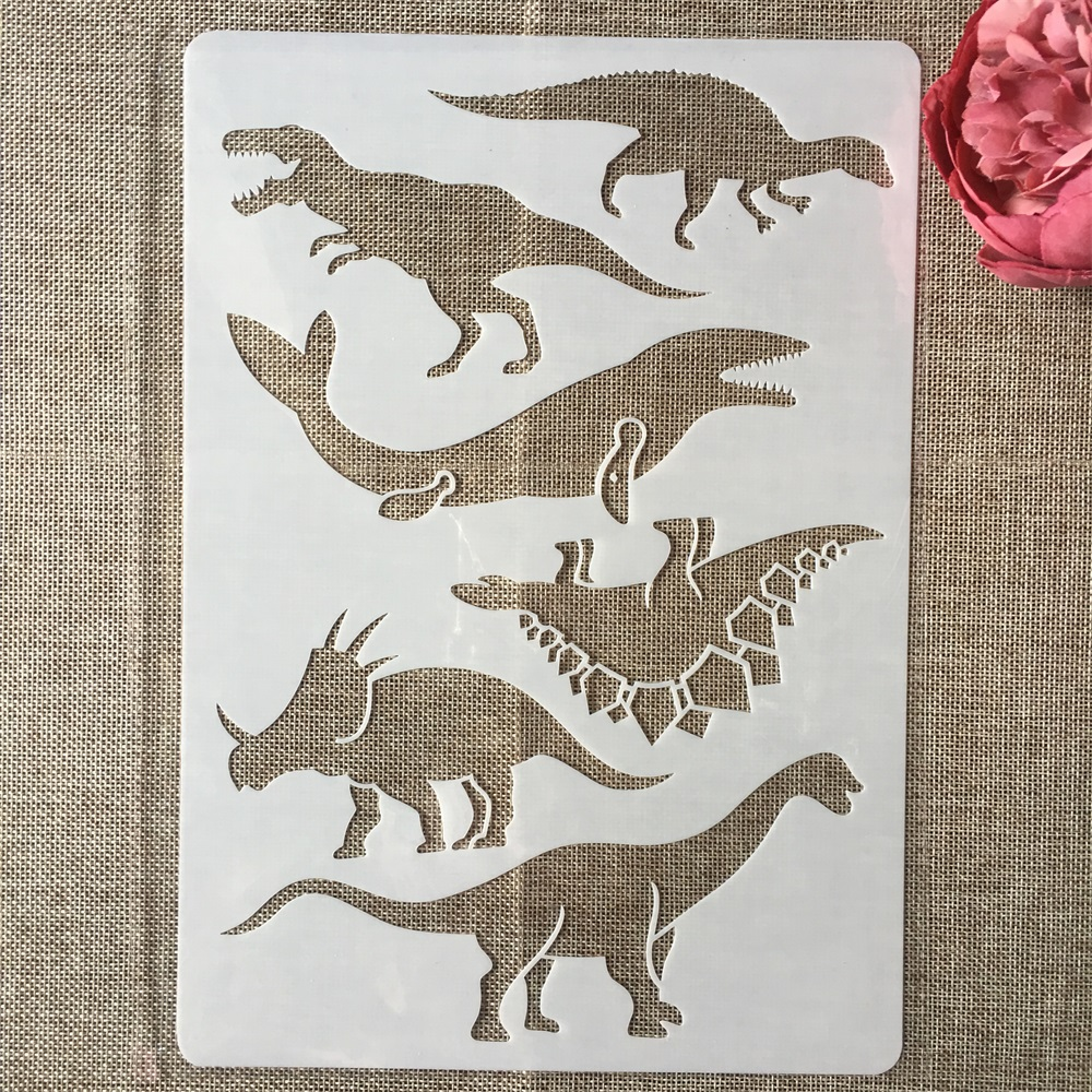 A4 29cm Prehistoric Dinosaur DIY Layering Stencils Painting Scrapbook Coloring Embossing Album Decorative Paper Template