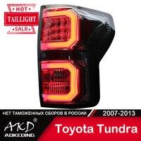 Dla samochodów Toyota Tundra lampa tylna 2007-2013 LED światła przeciwmgielne światła do jazdy dziennej DRL Tuning akcesoria samochodowe Tundra światła tylne