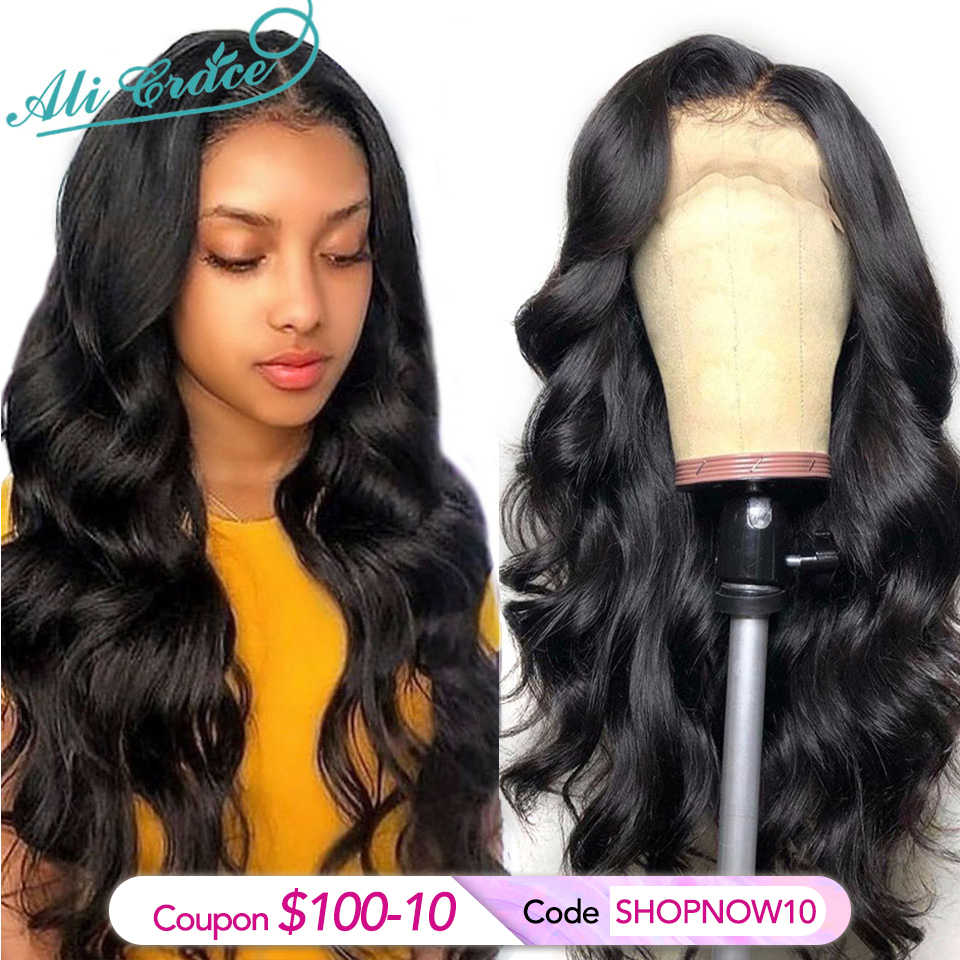 Ali Grace Wigs Brazilian Body Wave Full Lace Wigs 150% Density Body Wave Wig Pre Plucked Full Lace Human Hair Wigs Transparent