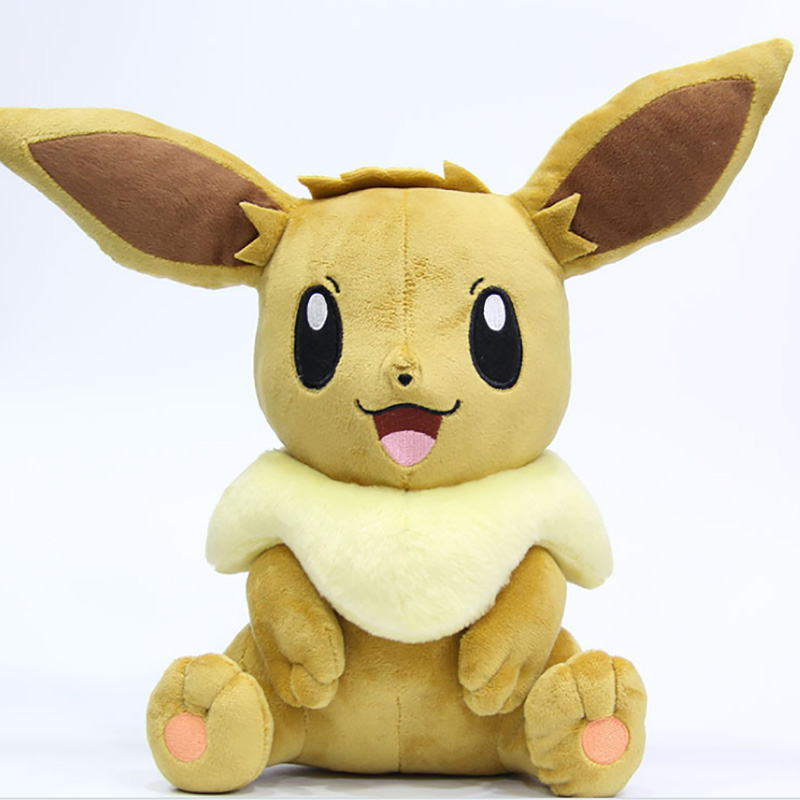 Sitting Eevee Animal Dolls 30cm Baby Plush Toys,Children Pocket Cute Plush Toys Send Kids As Gift With Free Shipping