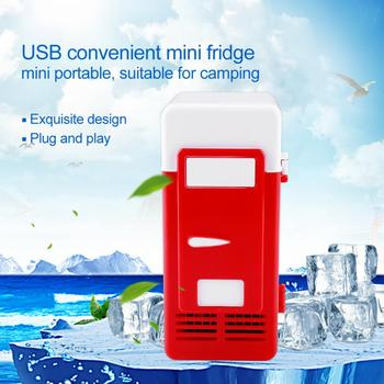 led portable cooler warmer usb fridge refrigerator mini beverage drink cans cooler power for office laptop pc usb gadgets USB Mini Car Refrigerator Portable Dual-use Cooler Warmer Fridge Box For Car Drinks Beverage Cans Refrigerators and Heater