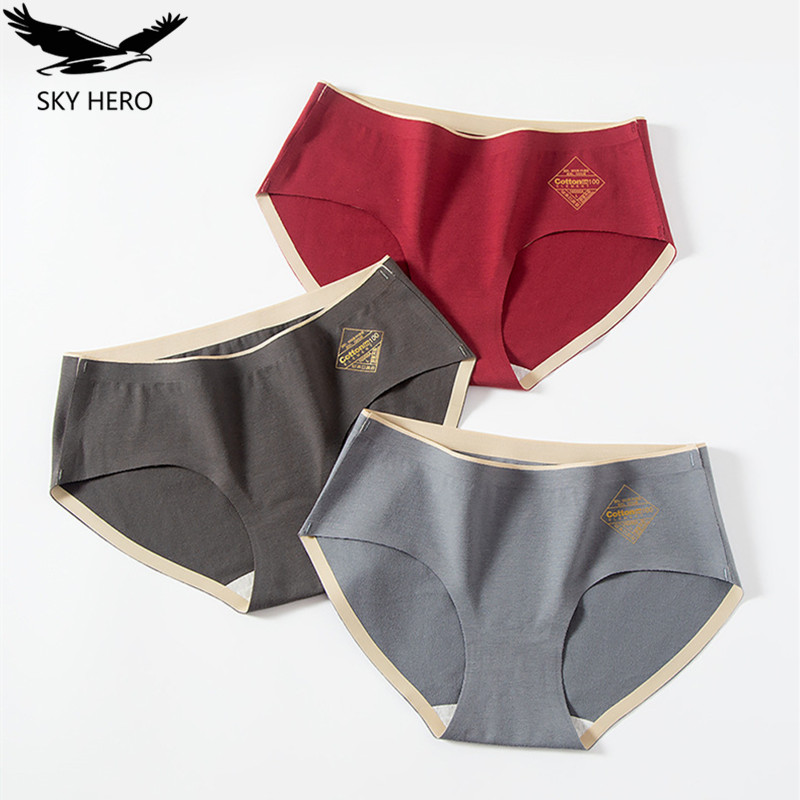 3pcs/lot Women's Cotton Briefs Panties Women Underwear Seamless Pants Brands for Girls Low Rise Waist Comfortable Cute Panty 1