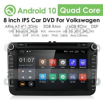 2G 2din 8''android 10 car dvd for VW passat b6 golf 4 5 tiguan polo skoda octavia with steering wheel control car radio gps WIFI