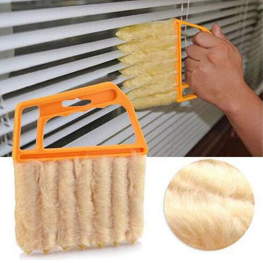 Useful Microfiber Window cleaning brush blind brush air Conditioner Duster cleaner with washable venetian blind cleaning cloth