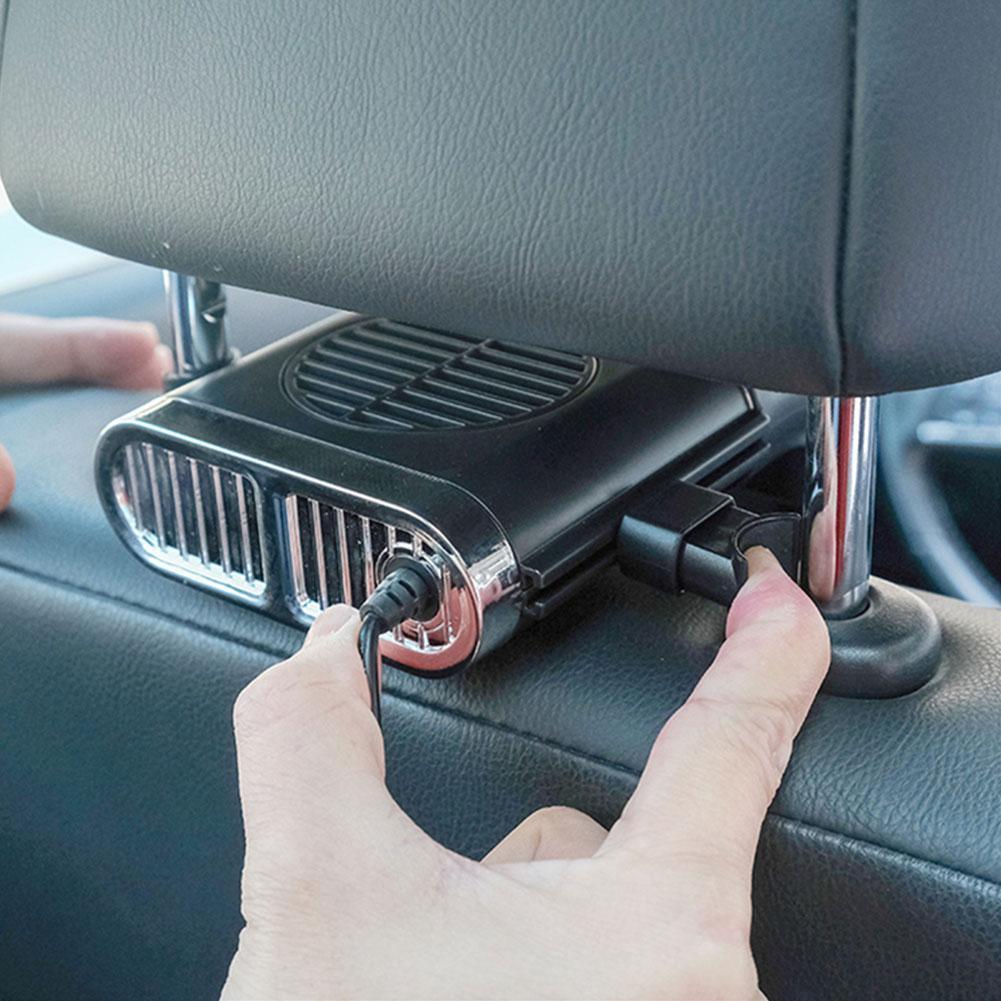 Car fan car rear fan 3 speed silent strong wind cooling powerful fan multifunctional 5V car accessory USB car cooling mini I0T2