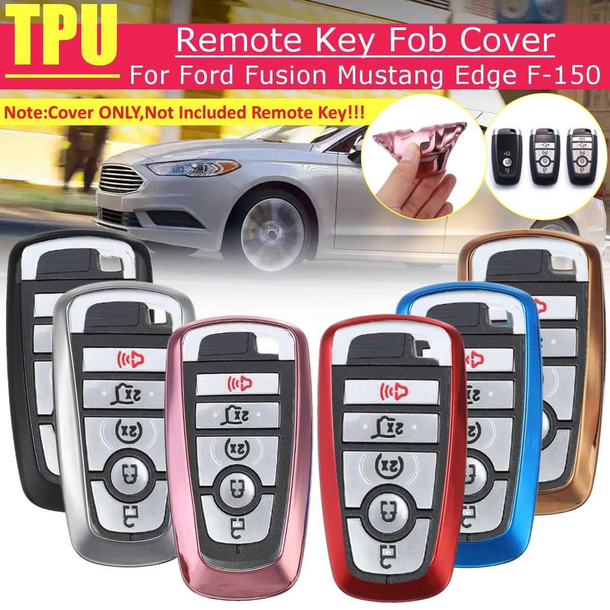 Carcasa para mando a distancia inteligente de TPU para coche, carcasa para mando a distancia para Ford Fusion Mustang Edge Ecosport Explorer F150 F250 2017 2018 2019, 6 colores