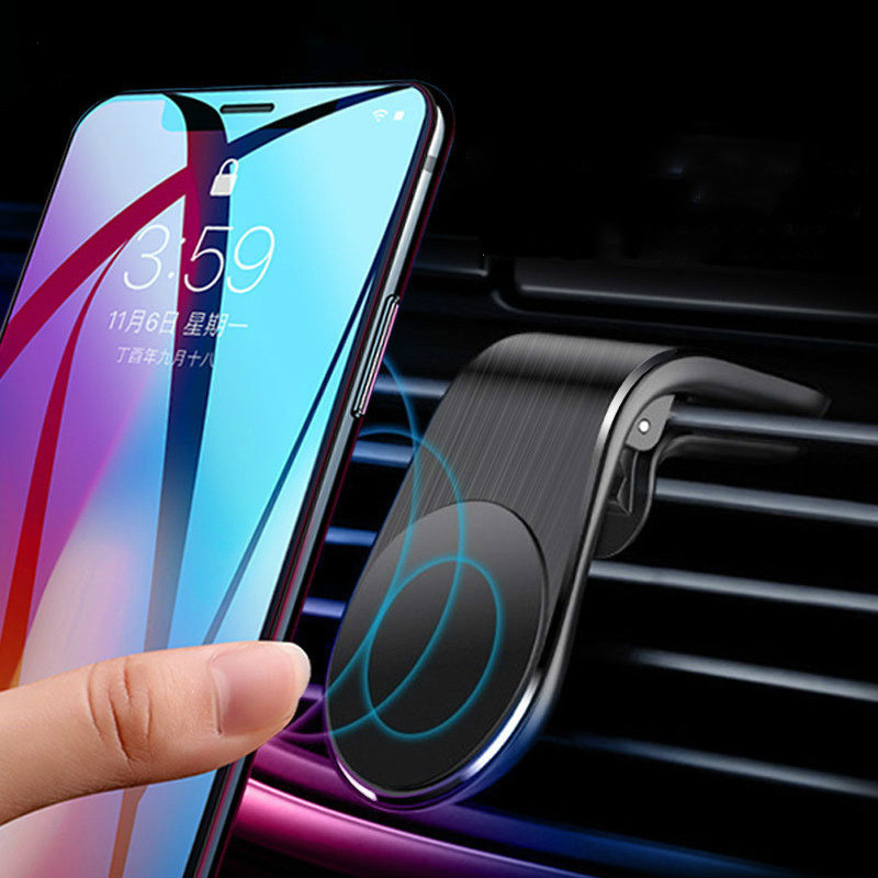 Metal Magnetic Car Phone Holder Portable Air Vent Clip Mount Magnet Mobile Stand For IPhone Samsung Smartphones In Car