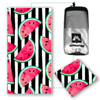 Microfine ręcznik plażowy letnia mikrofibra szybkoschnąca ręczniki dla dorosłych duże podróże sportowe ręczniki kąpielowe tanie i dobre opinie Ręcznik kąpielowy Zwykły Dzianiny Prostokąt 300g stripe and fruit beach towel Można prać w pralce Quick-dry Sprężone