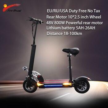Patinete eléctrico adulto, Scooter Eléctrico de larga distancia, con batería de litio de 800 km, 48V y 100 W