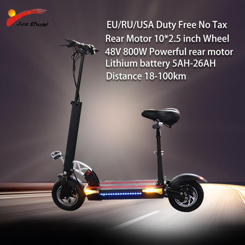 48V 800W Scooter électrique longue distance 100km batterie au Lithium puissant planche à roulettes électrique patinete électrique adulte E Scooter