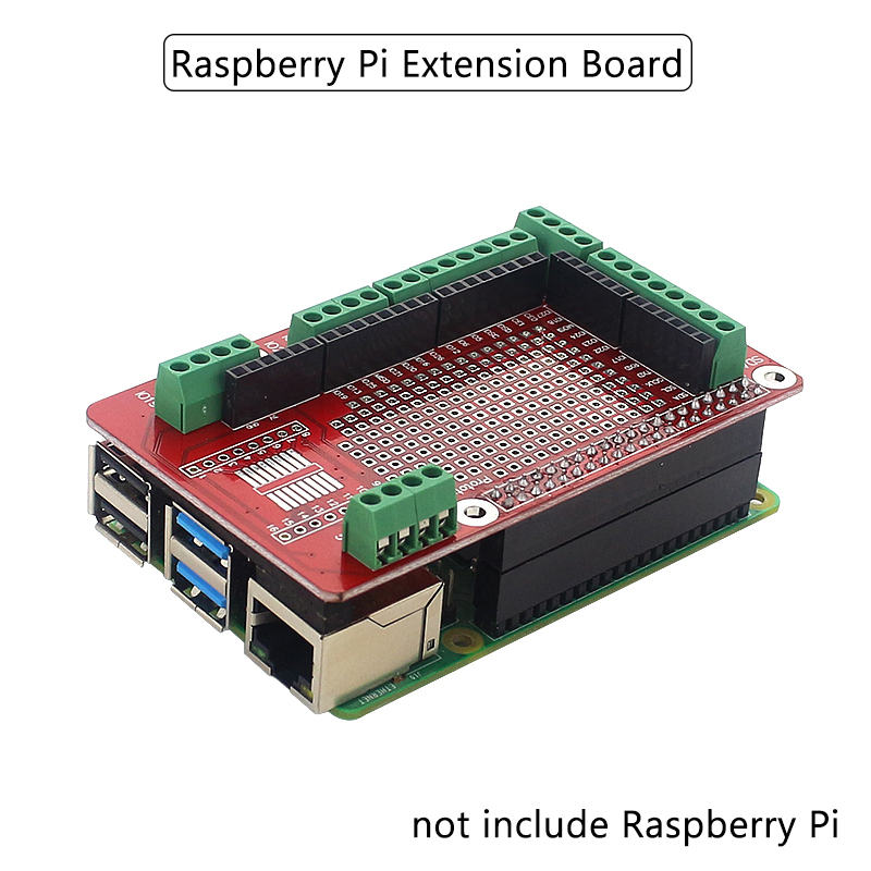 Raspberry Pi Extension Board Accessories Prototype Board GPIO Expansion Plate For Raspberry Pi 4 Model B/3B+/3B