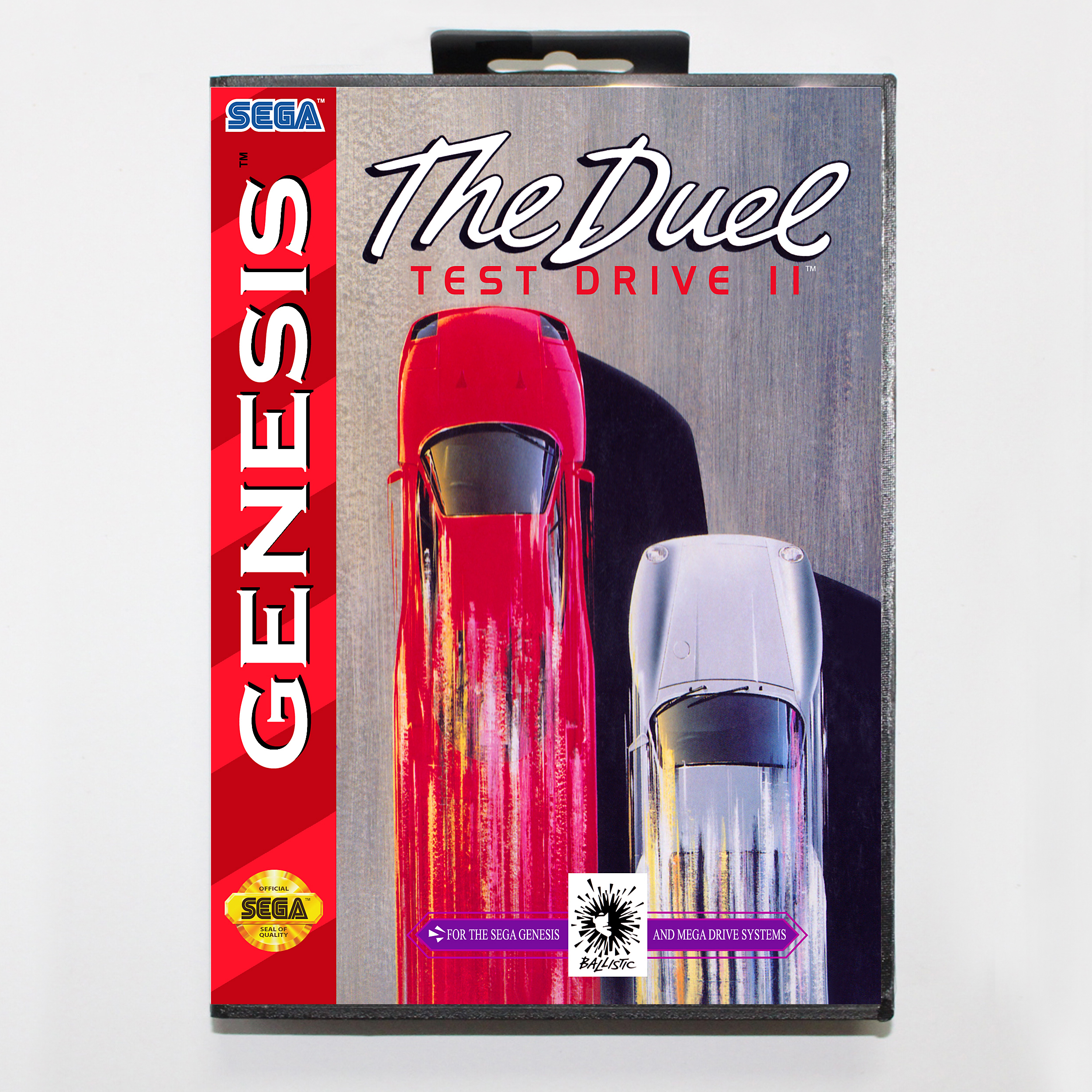 Test Drive II The Duel with Retail Box 16bit MD Game Card For Sega Mega Drive/ Genesis image