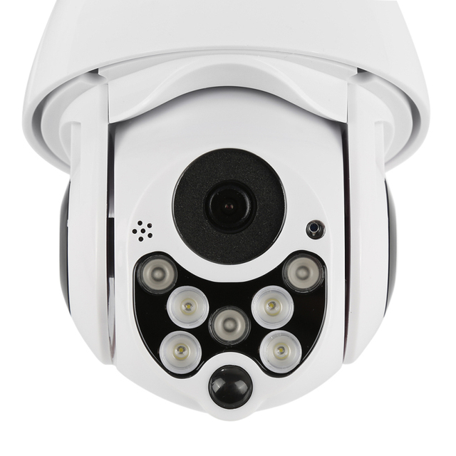 Outdoor WIFI  Home Security, With Excellent Images Quality, 1080P 7LED PTZ Mini IP Camera Wireless HD 2MP CCTV Onvif Waterproof Night Vision with TF Card, Never Miss A Moment Again