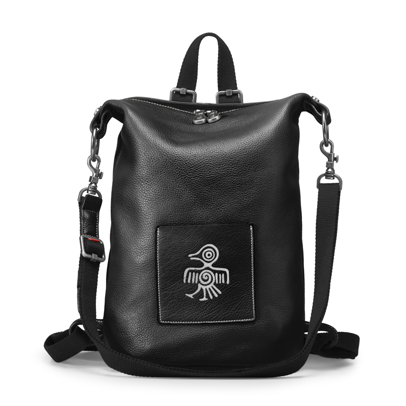 Orabird Luxury Cow Leather Casual Women Backpack Multifunction Large Capacity Soft Lady Bagpack Fashion Girls City Crossbody Bag