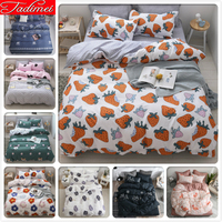 Creative Strawberry Pattern Duvet Cover Sheet Pillowcase Bedding Set Adult Kid Child Bed Linen Single Queen King Size 1.35m 1.5m