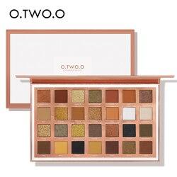 O.TW O.O 28 цветов Палитра теней Блестящий Матовый дымчатый блеск для глаз водостойкие тени для век Палитра пигментный макияж с эффектом